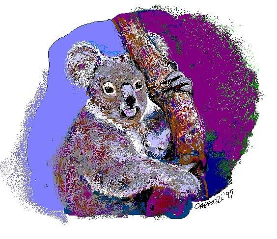 Koala Bears Digital Art - Koalas by Martha Carlozzi