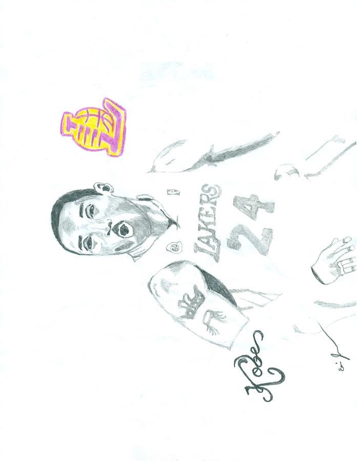Kobe Drawing - Kobe by Eric Jones