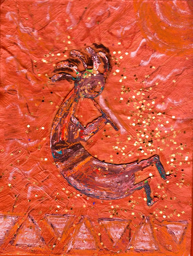 Kokopelli Painting - Kokopelli Bright by Anne-Elizabeth Whiteway
