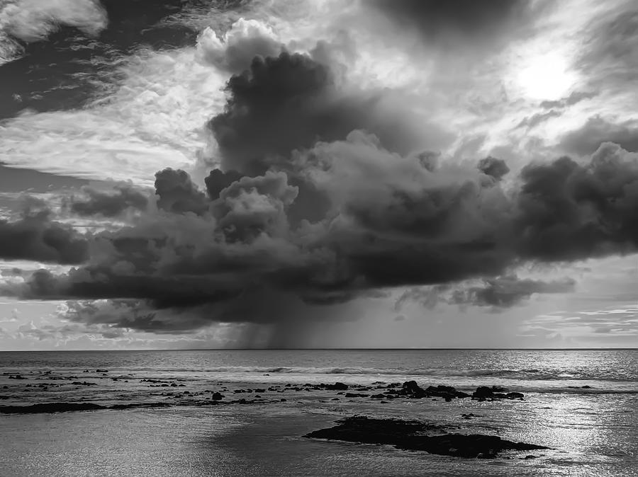 Squall Photograph - Kona Coast Squall - Big Island Hawaii by Daniel Hagerman