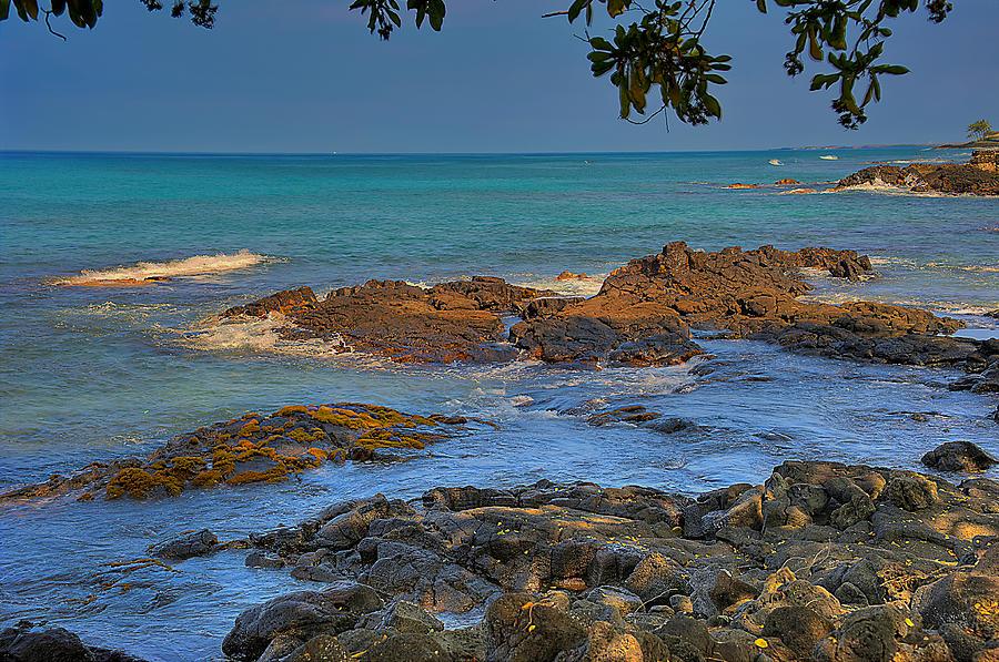 Hdr Photograph - Kona Shoreline by Scott Massey