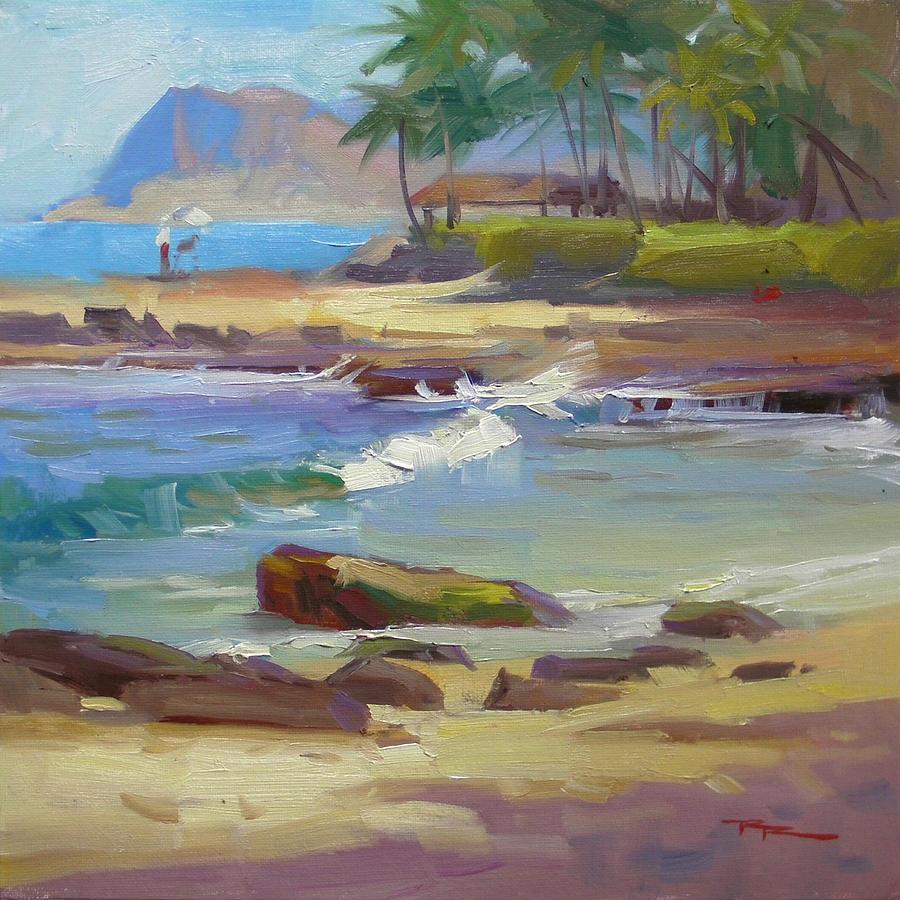 Hawaii Painting - Koolina Lagoon by Richard Robinson
