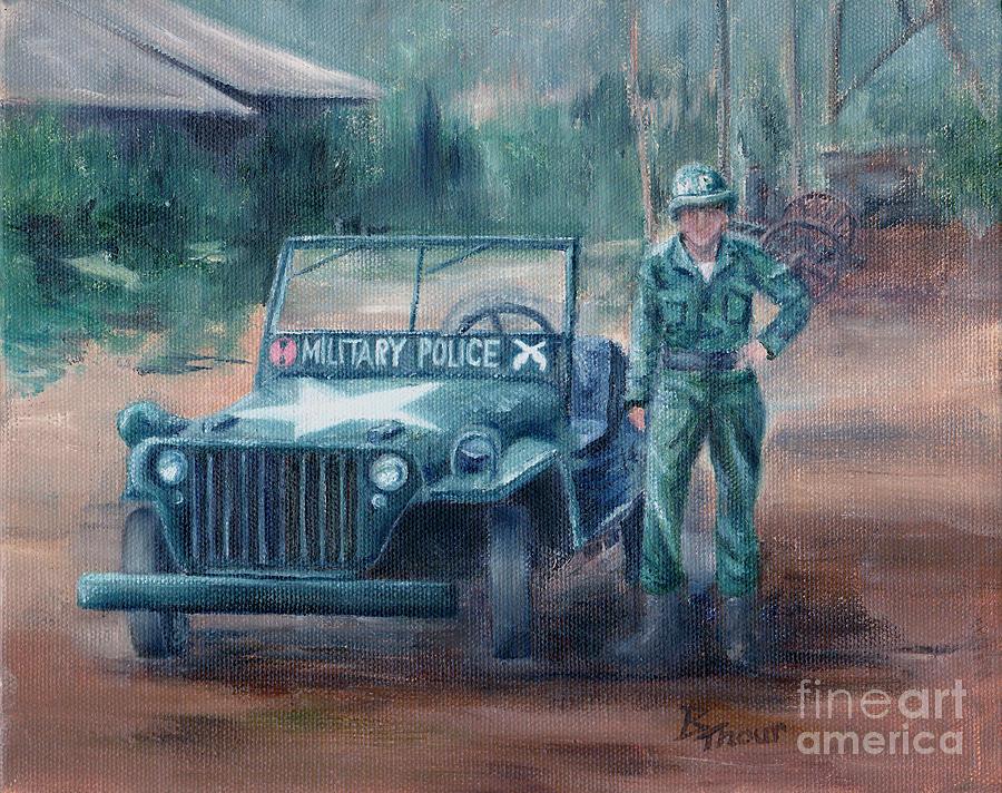 Military Painting - Korean War Hero by Brenda Thour