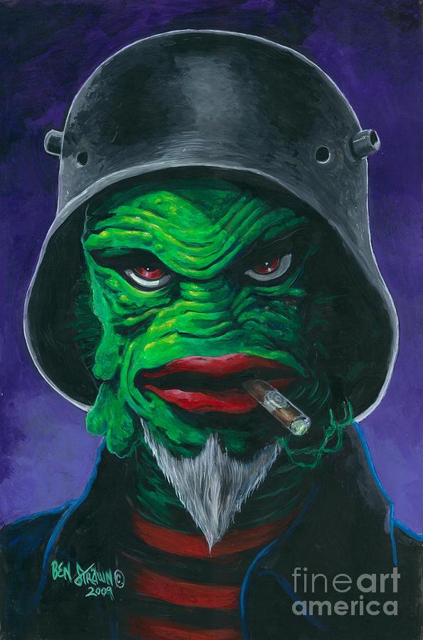 Tattoo Flash Painting - Kreetcha by Ben Von Strawn