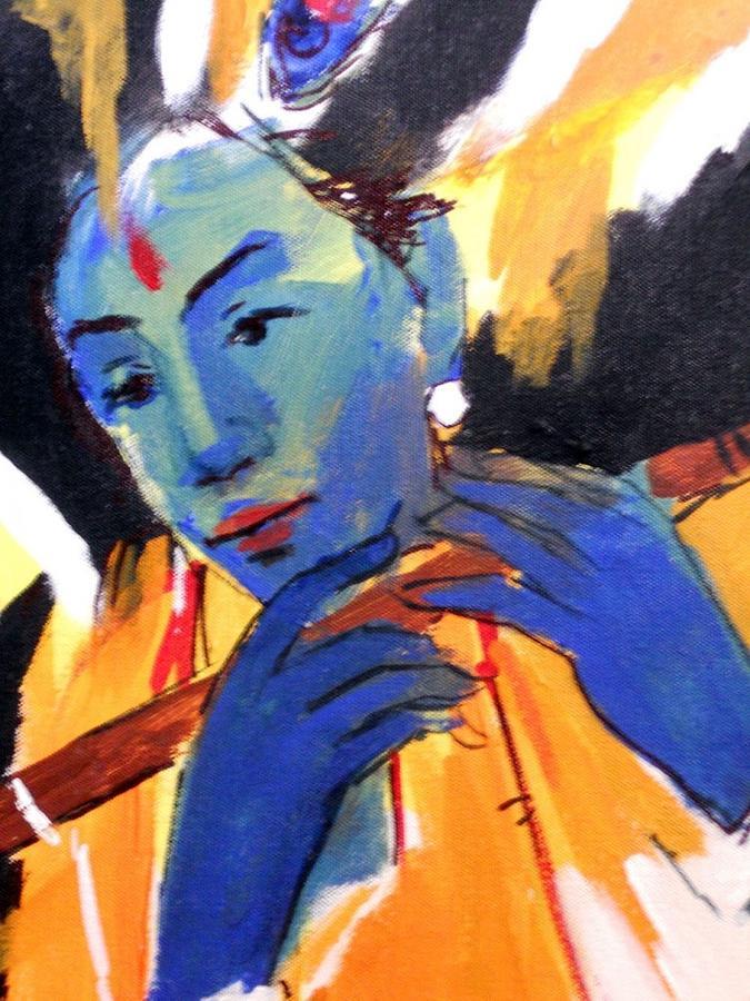 Krishna Painting by Manish Verma