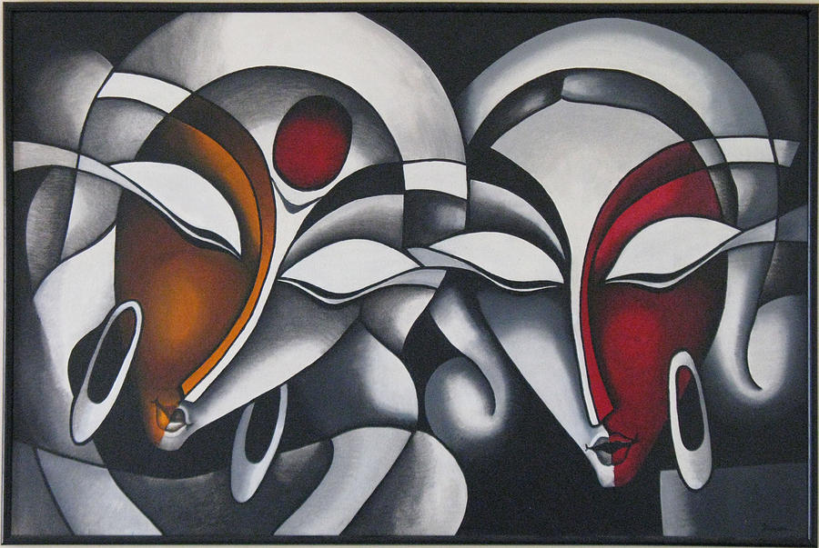 Krishna-radha Modern Art is a painting by Kanan Trivedi which was ...