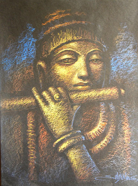Drawings Painting - Krishna by Subrata Das