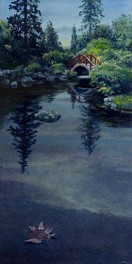 Landscape Painting - Kubota Reflections by Paul Illian
