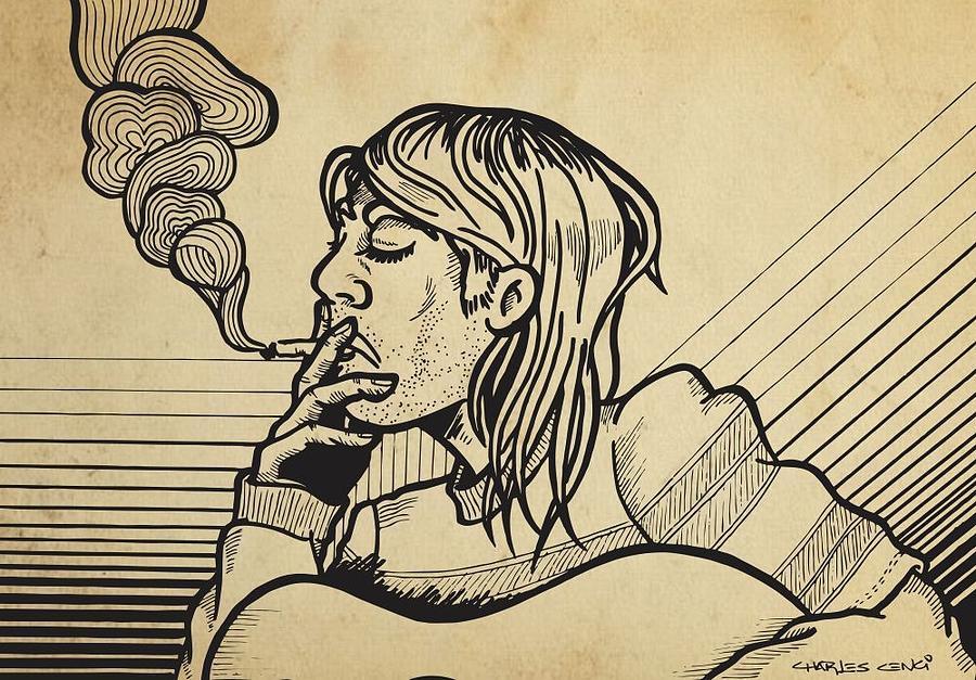 Kurt Smocking Drawing by Charles Cenci