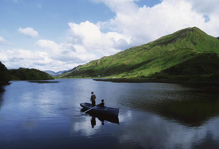 Co Galway Photograph - Kylemore Lake, Co Galway, Ireland by The Irish Image Collection
