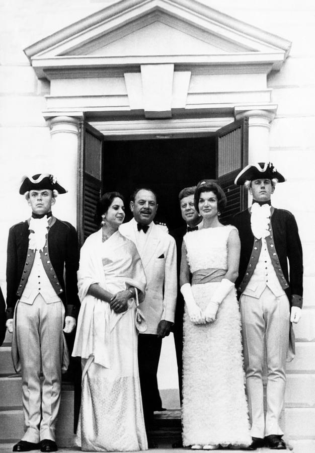 18th Century Photograph - L-r, Center Four Pakistan President by Everett