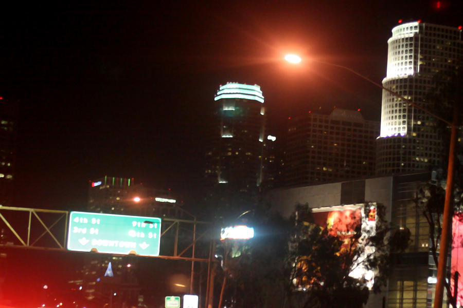 Los Angeles Photograph - La At Night by Mille Kedlaw