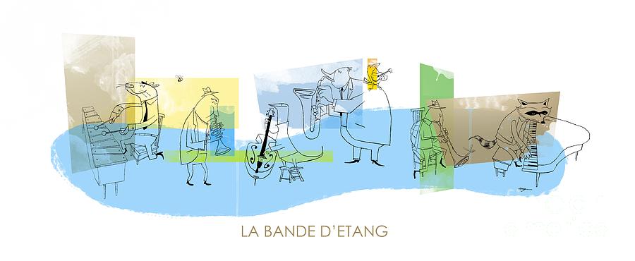 Music Digital Art - La Bande Detang by Sean Hagan