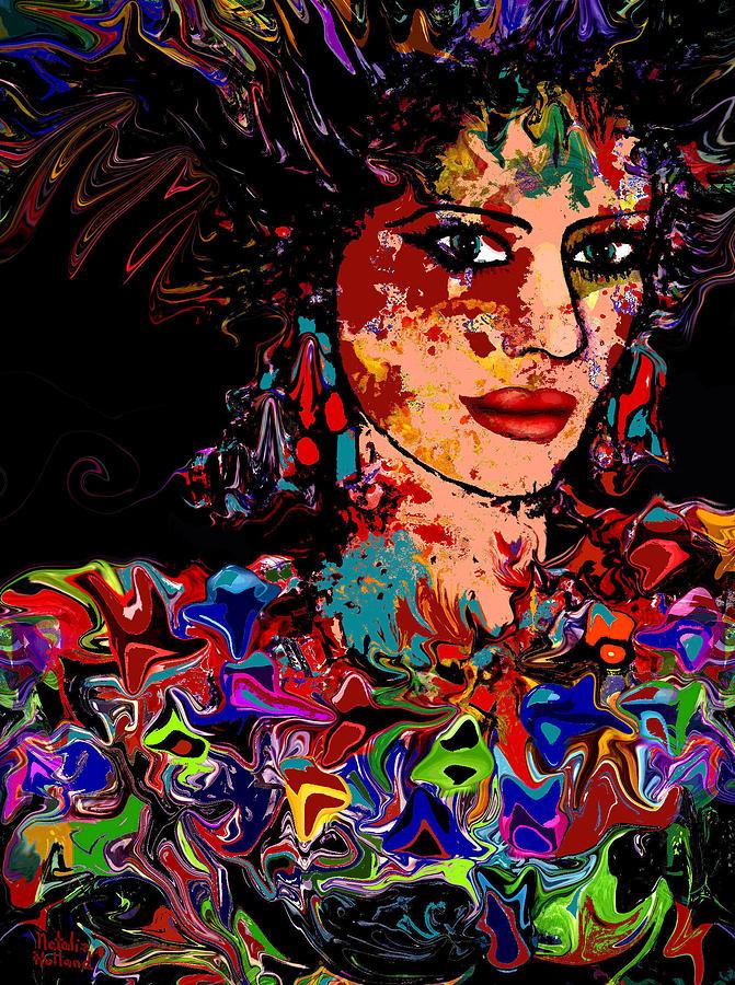 Woman Mixed Media - La Bella by Natalie Holland