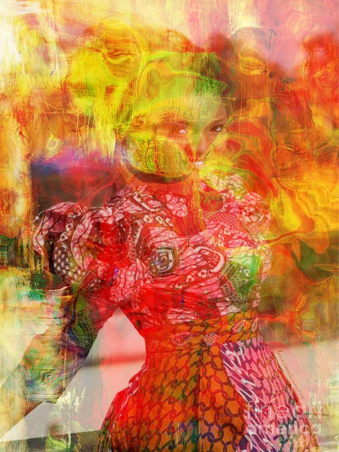 Faniart Mixed Media - La Belle by Fania Simon