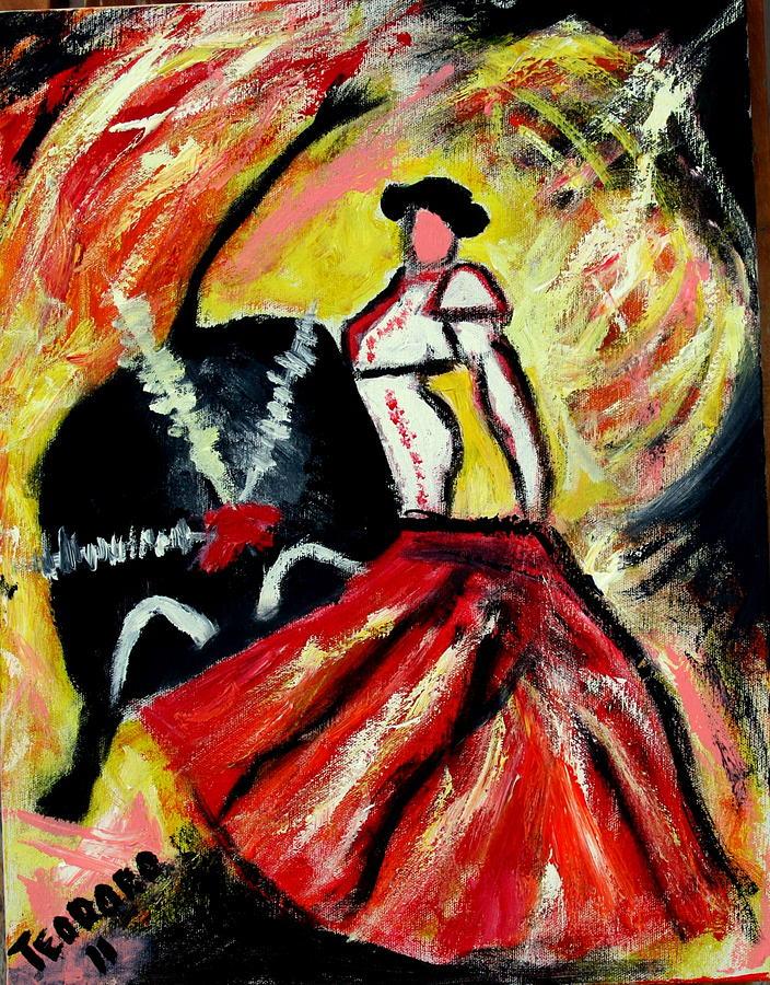 La Corrida De Toros Painting by Ted Hebbler