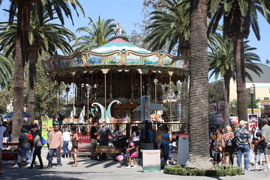 La County Fair Carousel Photograph