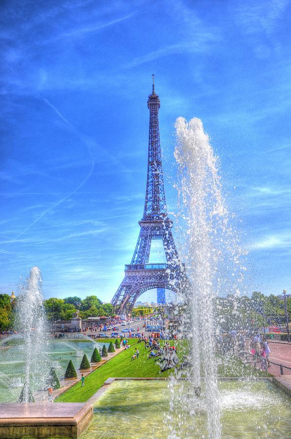 The Eiffel Tower Digital Art - La Dame De Fer by Barry R Jones Jr
