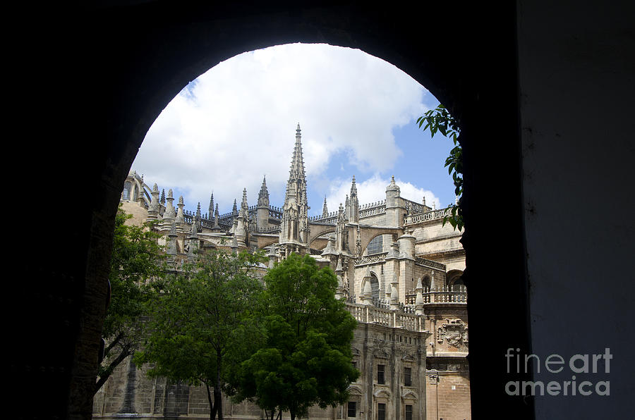 Cathedral Photograph - La Giralda Seville by Perry Van Munster