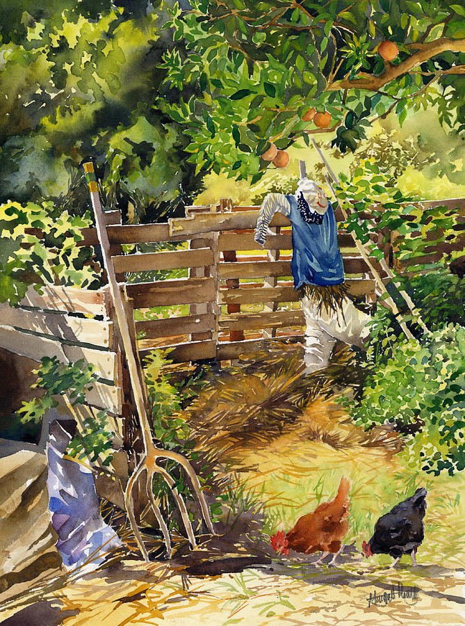 Landscape Painting - La Huerta by Margaret Merry