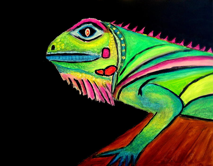 La Iguana Painting by Ted Hebbler