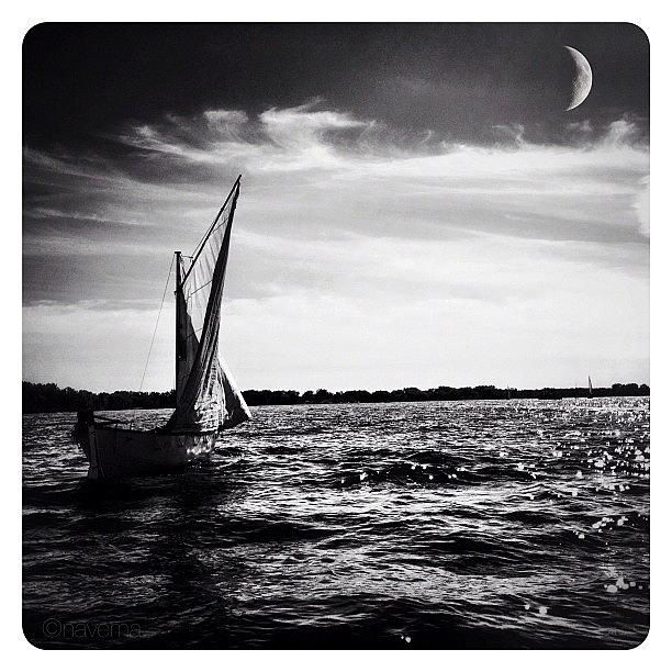 Blackandwhite Photograph - La Lune & Le Lac by Natasha Marco