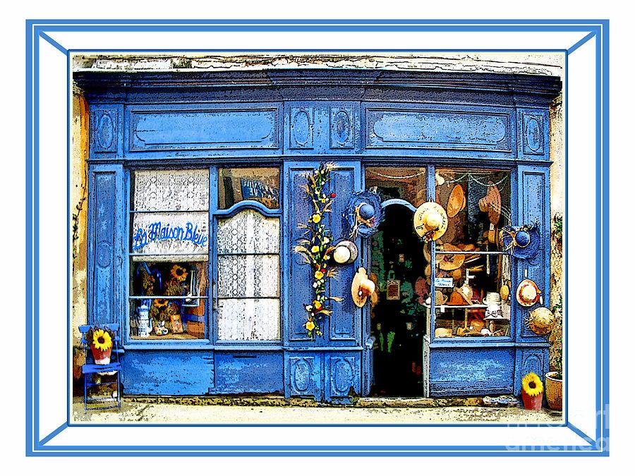 La maison digital art by jennie breeze - Maison bleue mobel ...