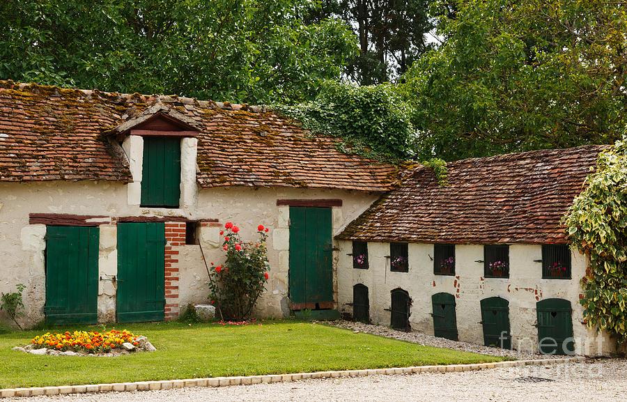 La Pillebourdiere Photograph - La Pillebourdiere Old Farm Outbuildings In The Loire Valley by Louise Heusinkveld