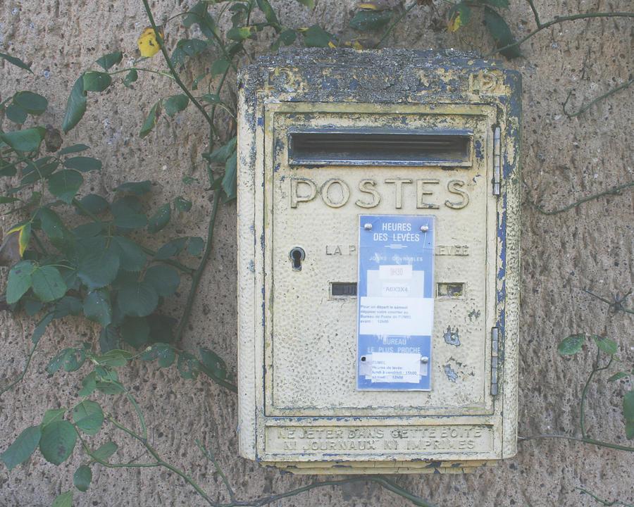 Mailbox Photograph - La Poste by Georgia Fowler