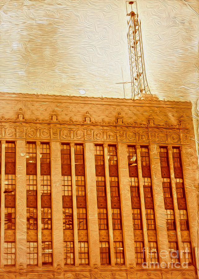 Radio Tower Painting - La Radio Tower by Gregory Dyer