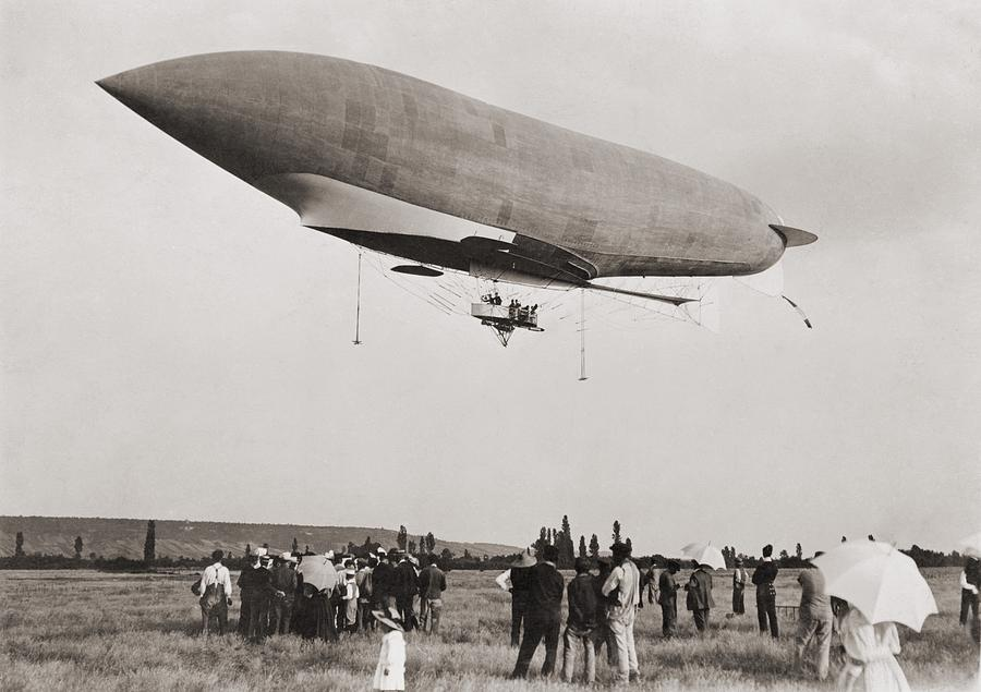 History Photograph - La Republique A Semi-rigid Airship by Everett