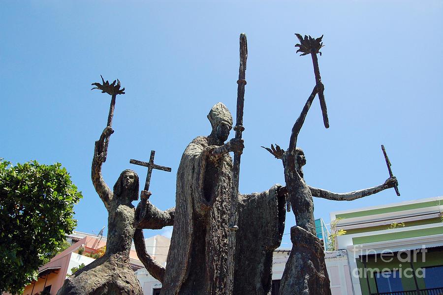Old San Juan Photograph - La Rogativa Statue Old San Juan Puerto Rico by Shawn OBrien