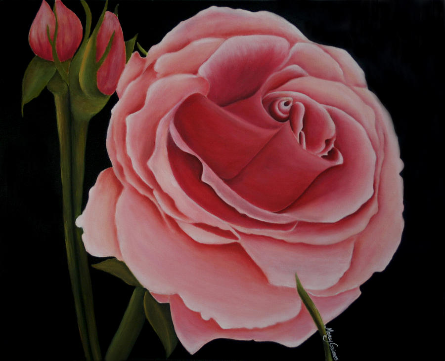 Rose Painting - La Rosa  by Mary Gaines