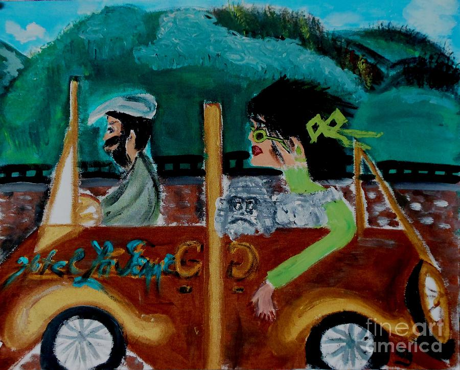 Art Deco Painting - La Shai-on The Road Again-i Will Kill That Hotel Manager When I Get There by Marie Bulger