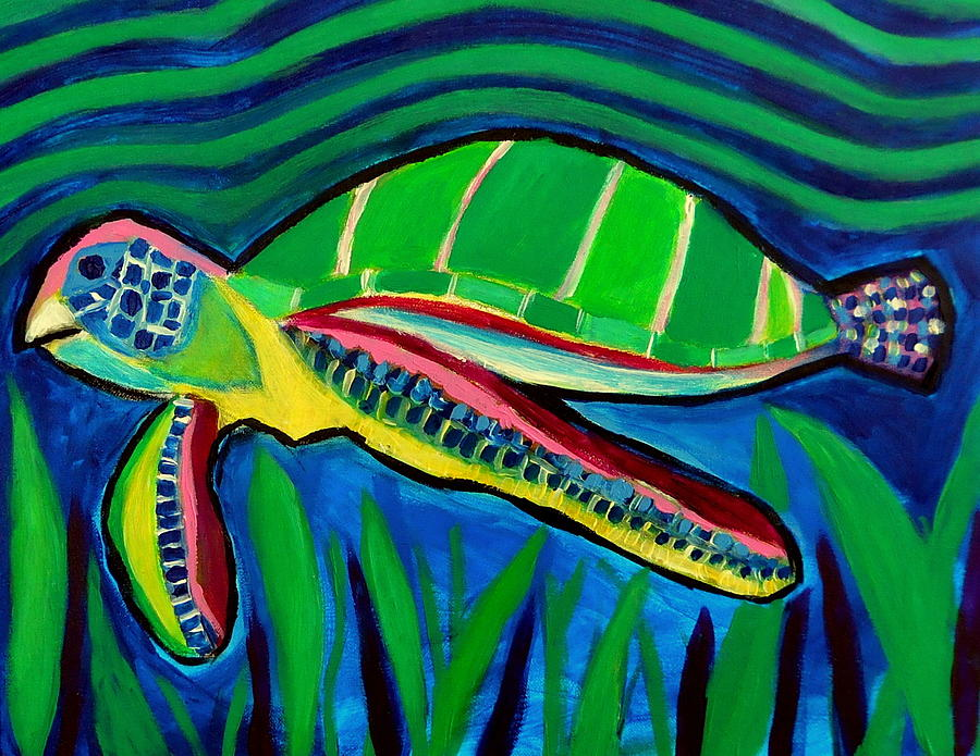 La Tortuga Painting by Ted Hebbler