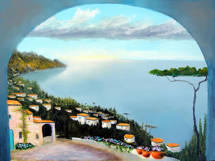 Italy Painting - La Vista Del Mare by Larry Cirigliano