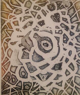 Labyrinth Drawing by Branko Jovanovic