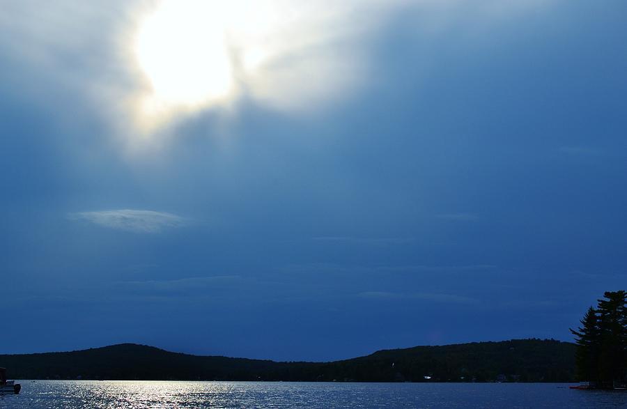 Lake Photograph - Lac Blue Sky by Josee Dube
