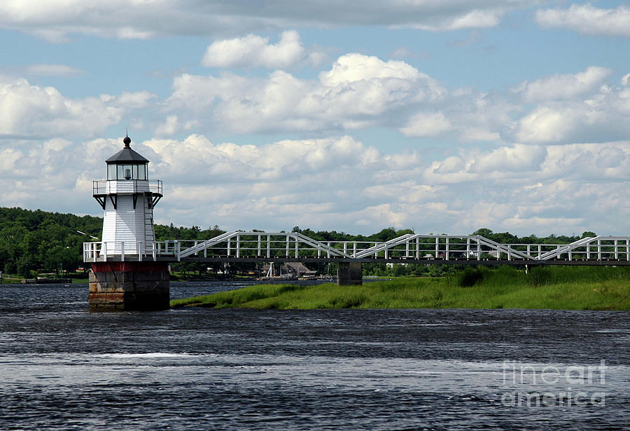 Doubling Point Light Photograph - Lace Lighthouse by Brenda Giasson