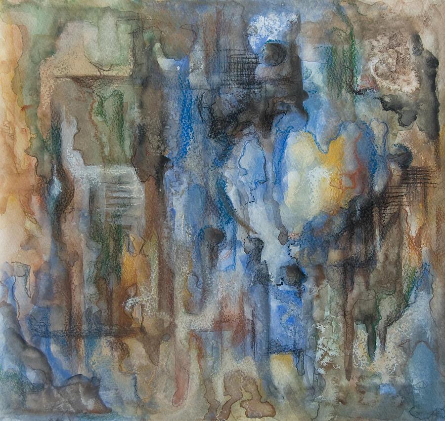 Abstract Mixed Media - Lace The Sun by Joanna Gates