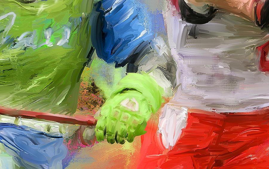 Lacrosse Painting - Lacrosse Glove by Scott Melby