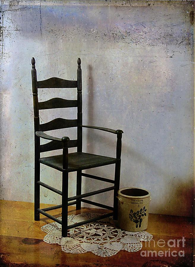 Chair Photograph - Ladderback by Judi Bagwell