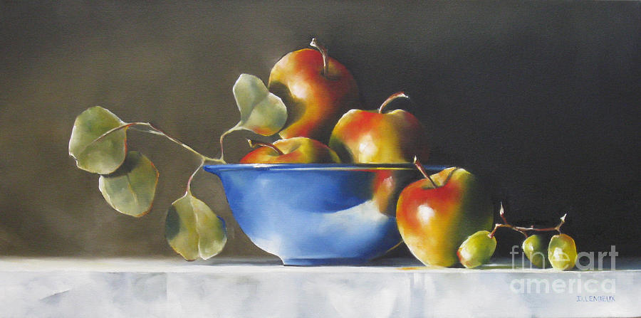 Still Life Painting - Lady Alice Apples by Daniele Lemieux