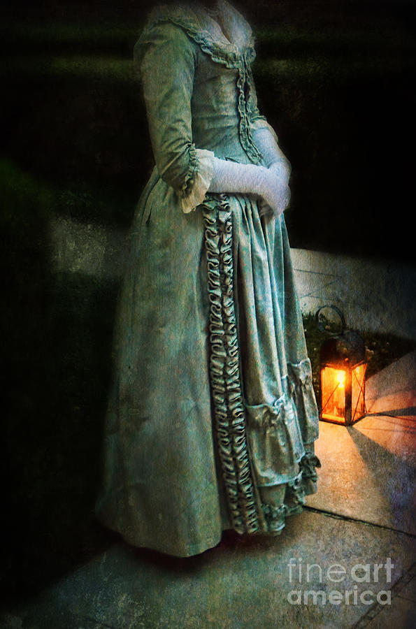 Lady Photograph - Lady By Lantern Light by Jill Battaglia