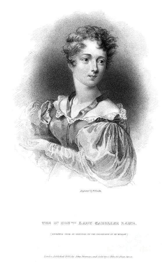 1833 Photograph - Lady Caroline Lamb by Granger