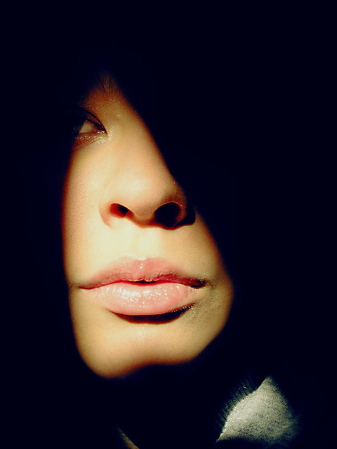 Woman Photograph - Lady In Darkness by Guadalupe Nicole Barrionuevo