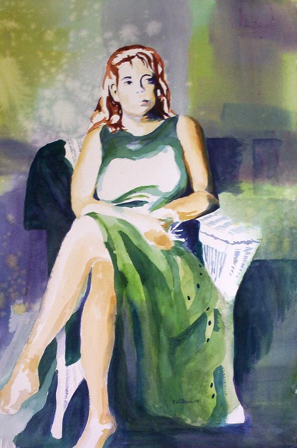 Lady in green by Richard Willows