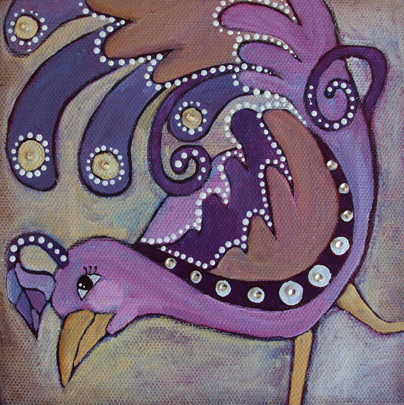 Bird Painting - Lady In Lavender by Suzanne Drolet