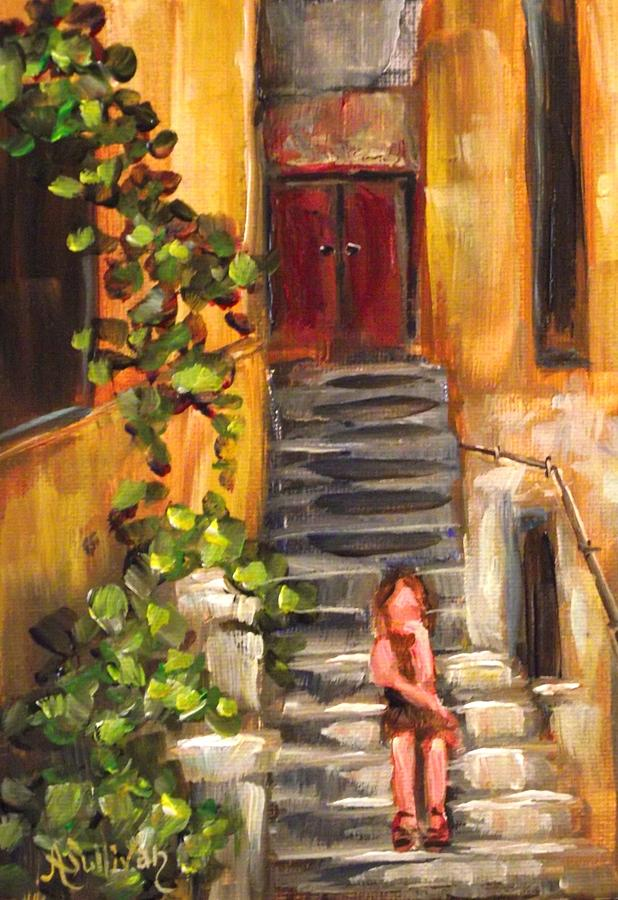 Lady Painting - Lady In Waiting by Angela Sullivan