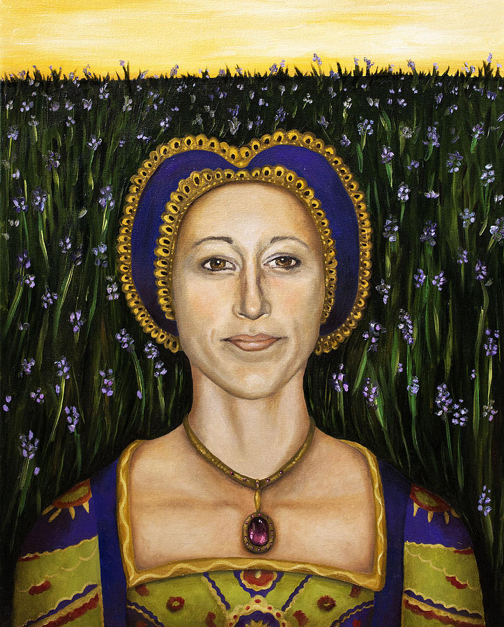Lavender Painting - Lady Lavender  by Leah Saulnier The Painting Maniac